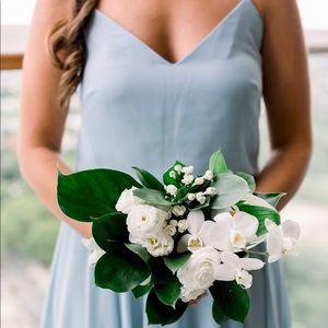 Ciel Blue Luxe Chiffon Inesse Bridesmaid Dress, 10
